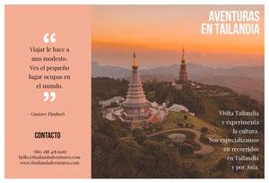 Thailand adventures travel brochures  Folleto