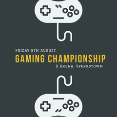 Gaming Championship Game Night Flyer