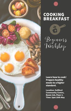 Black With Fresh Breakfast Beginners Workshop Flyer Flyer