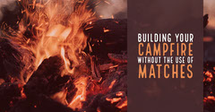 Orange and Brown Campfire YouTube Tutorial Camping