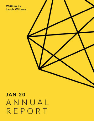 Yellow Geometric Annual Business Report Rapporto