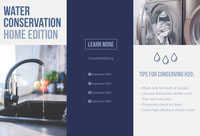 Blue Environmental Water Conservation Brochure Tri-Fold Brochure