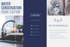 Blue Environmental Water Conservation Brochure Water