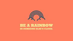 Orange Inspirational Social Media Graphic with Rainbow Icon Rainbow