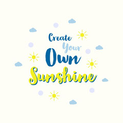 blue yellow create your own sunshine instagram square  Sun