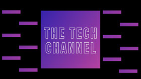 Purple and Blue Gradient Tech Channel Youtube Channel Art Banner per YouTube