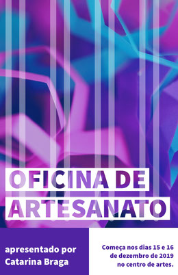 creative craft workshop poster Panfletos