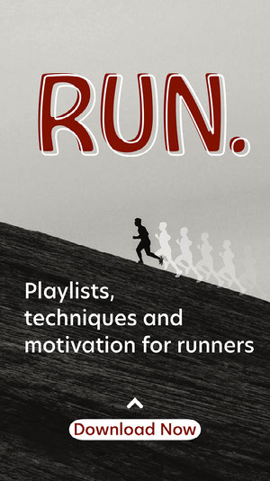 Red and Black Runner Podcast Instagram Story Motiverende poster