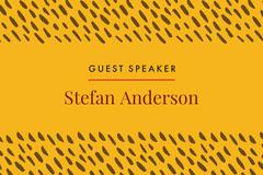yellow pattern name tag Speaker