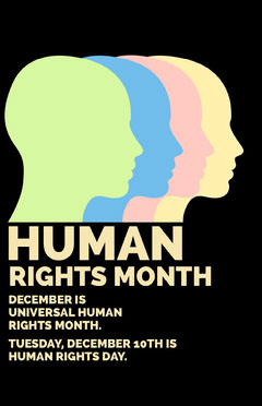 Winter Dates Human Rights Day Poster Awareness