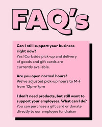 Pink Business Frequently Asked Questions Instagram Portrait Graphic COVID-19 Re-opening