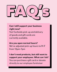 Pink Simple Frequently Asked Question List COVID-19 Re-opening