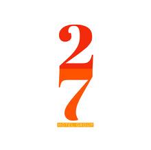 stacked modern numbers logo Logo