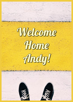 Yellow Welcome Home Card Shoes