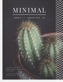 Minimalism Magazine Cover Plants