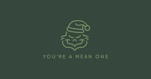 Dark Green Minimalistic Funny Christmas Facebook Banner Christmas Facebook Cover