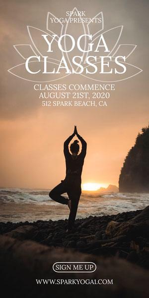 YOGA<BR>CLASSES Advertisement Flyer