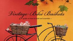 Red and Orange Vintage Bicycle Basket Guide Blog Post Graphic Bike