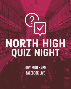 Pink High School Quiz Night Instagram Portrait  Game Night Flyer