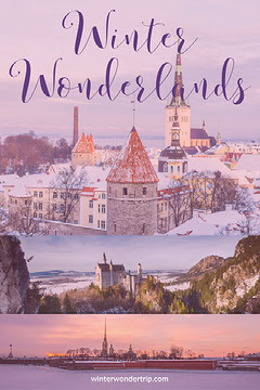 Winter Travel and Tourism Pinterest Graphic Travel Agency