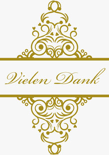 gold embellished wedding thank you cards Hochzeitsdankeskarten