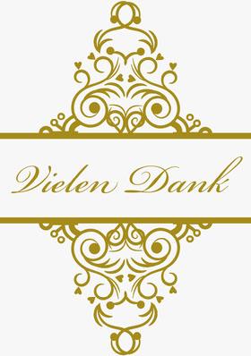 gold embellished wedding thank you cards Danksagungskarte