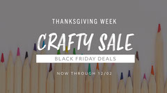 thanksgiving twitter sale ad craft colored pencils  Black Friday