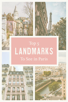 Pink & White Top 5 Landmarks To See in Paris Pinterest  France