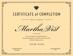 internship certificate Copy Border