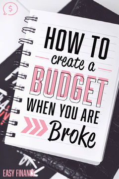 Budget When You Are Broke Pinterest Post Finance