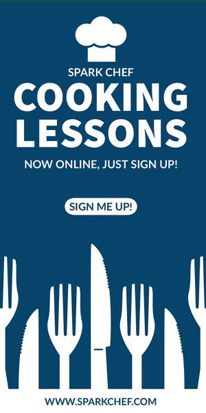 COOKING<BR>LESSONS Flyer de anúncio