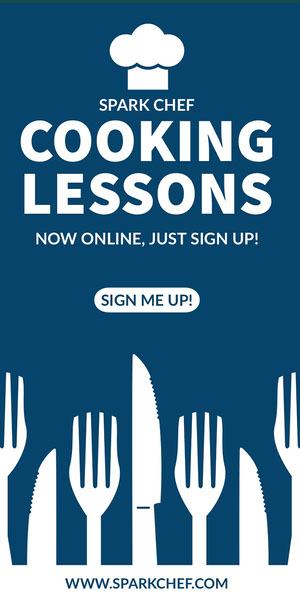 COOKING<BR>LESSONS Reklameflyer
