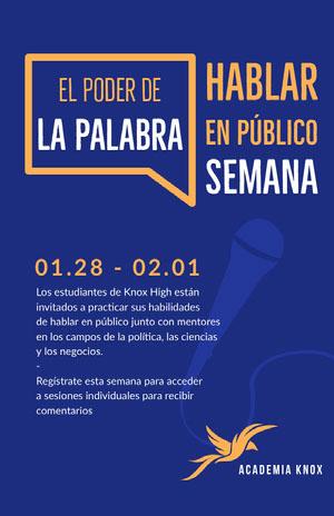 publish speaking event poster Cartel de evento