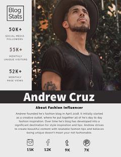 Andrew Cruz  Social Media Flyer
