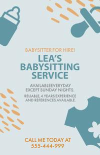 LEA'S <BR>BABYSITTING SERVICE Poster