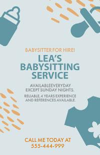 LEA'S <BR>BABYSITTING SERVICE Affiche