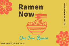 Red and Yellow Gift Certificate  Ramen