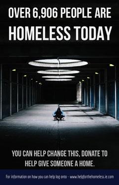 Dark Homelessness Awareness Poster Awareness