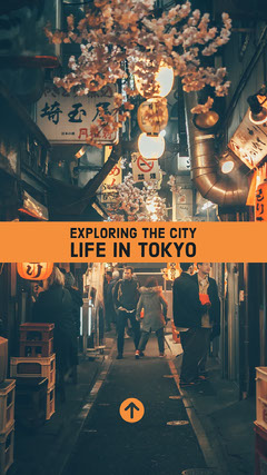 Exploring the city life in Tokyo Japan