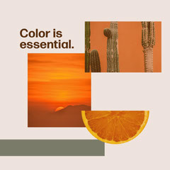 Beige and Orange, Warm Toned Catchphrase Instagram Post Cactus