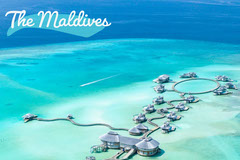 Blue Maldives Postcard Ocean