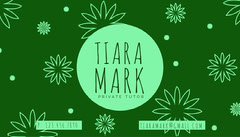 Green Floral Business Card Pattern Design