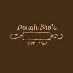 Brown Rolling Pin Bakery Logo Bakery