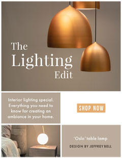 Grey and Gold Lighting Interiors Newsletter Decor