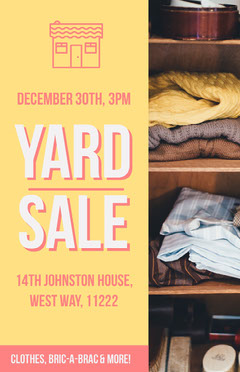 Yard Sale  Yard Sale Flyer