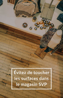 Wood Shop Floor Avoid Touching Surfaces Poster Affiche