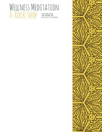 Yellow Beauty Wellness and Spa Business Letterhead with Pattern Letterhead Templates
