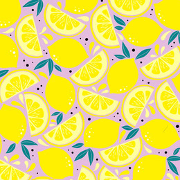 Purple and Yellow Lemon Pattern Instagram Post Artists Collection: Adobe Spark Stylemakers