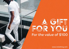 Orange Gift Voucher Card Gift Card