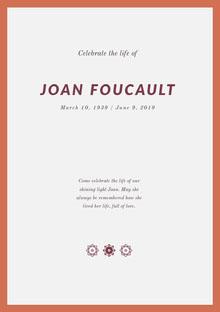 Joan Foucault Programa funerario